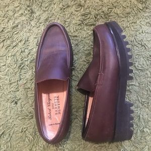 robert clergerie for Barney's platform loafers
